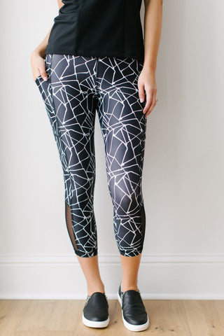 KOKOON Inspired Sweat New Mesh Capris Front