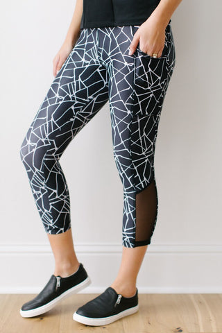 KOKOON Inspired Sweat New Mesh Capris Side