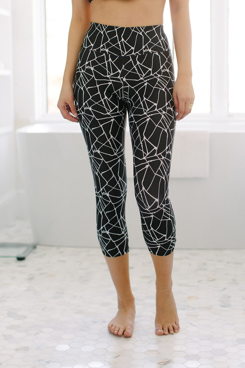 KOKOON Cropped Leggings Metro Map Print Front