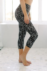 KOKOON Cropped Leggings Metro Map Print Side