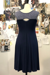 KOKOON Katniss Trapeze Dress Back in Navy