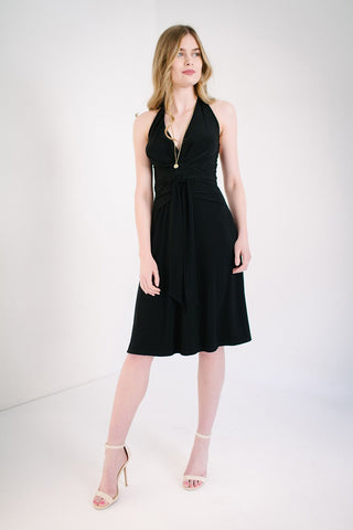 KOKOON Origami Halter Dress in Black