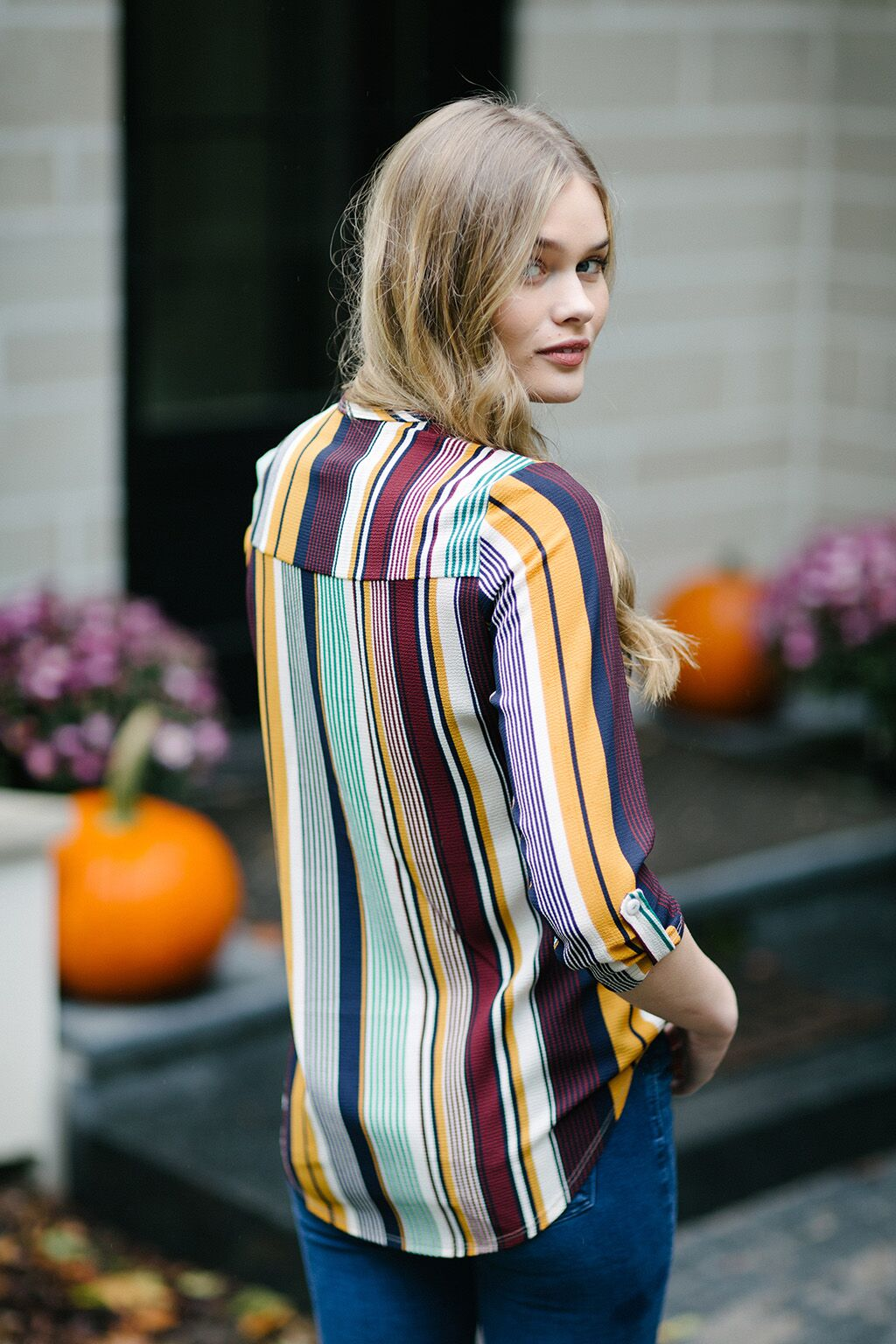 KOKOON Gopher Stripe Blouse Back