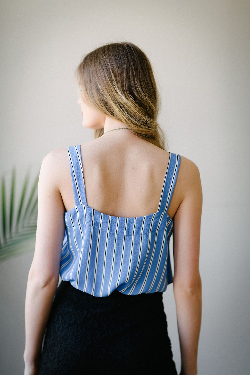 KOKOON Natalia Cami in Blue Banker's Stripe back 2