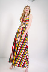 KOKOON Origami Maxi in Xanadu Stripe Full Length
