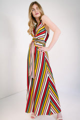 KOKOON Origami Maxi in Xanadu Stripe Side