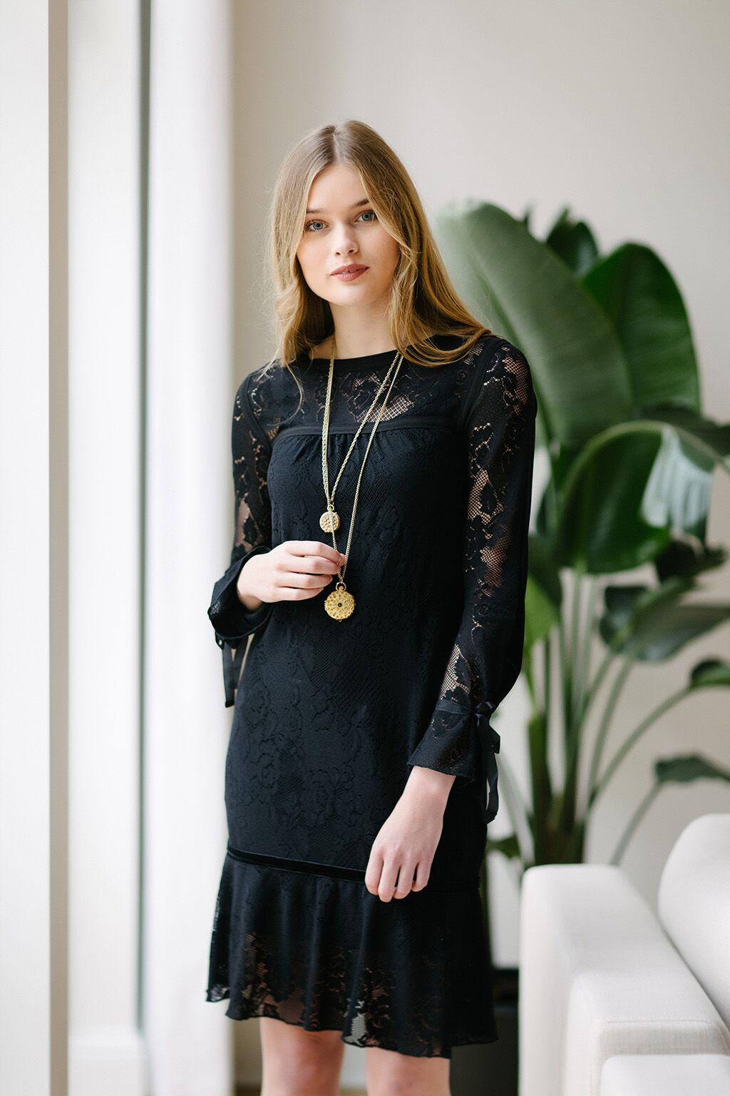 KOKOON Yoko Lace Dress Black