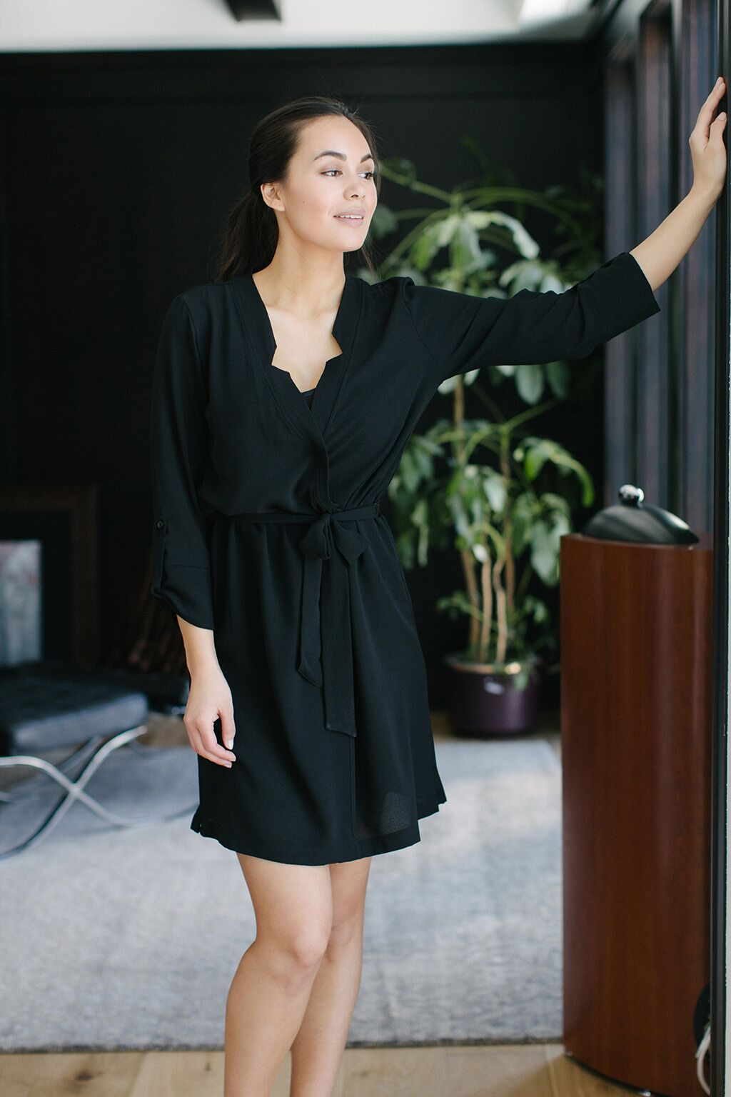 KOKOON Short A star Is Born Duster Dress in Black 2