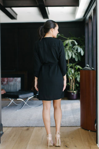 KOKOON Short A star Is Born Duster Dress in Black Back View