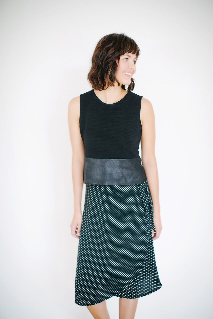 KOKOON Midi Wrap Skirt with Shell