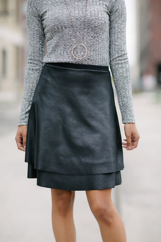 Double Vision Wrap Skirt