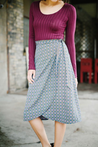 KOKOON Midi Wrap Skirt Detail