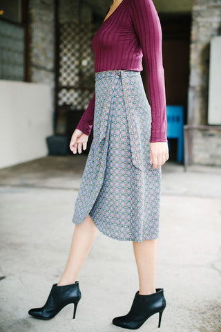 KOKOON Midi Wrap Skirt Side