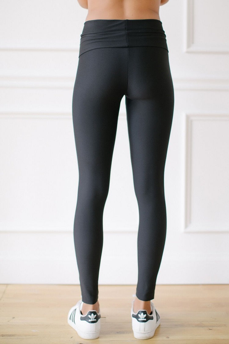 KOKOON Inspired Sweat Peggy Ankle Leggings Black