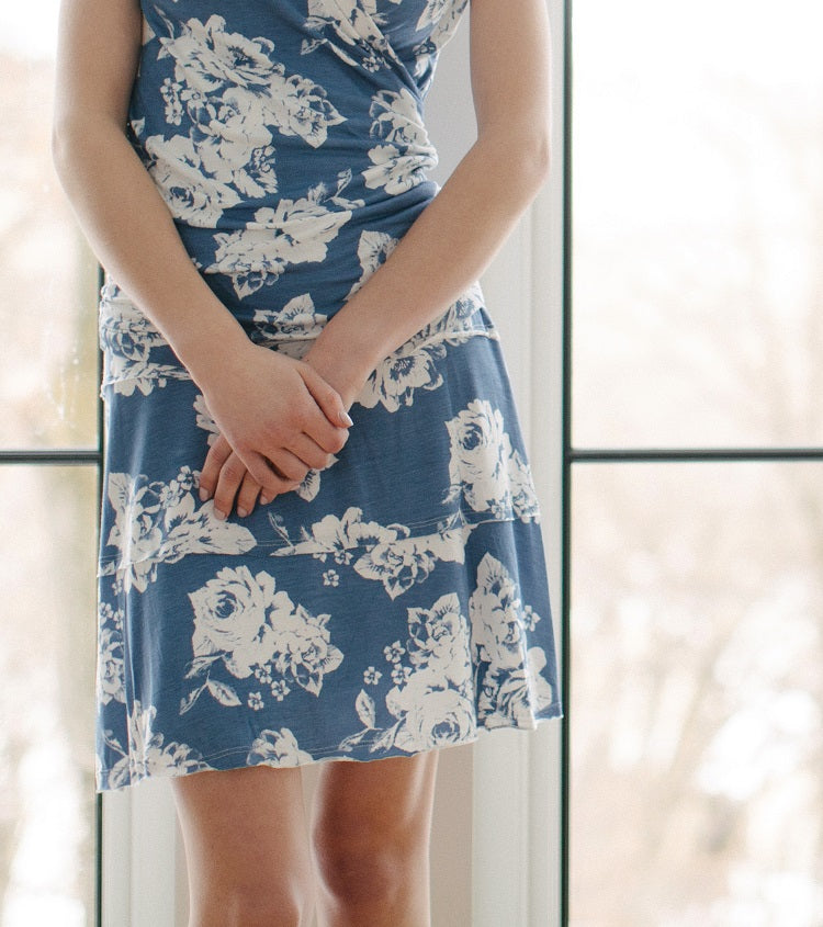 KOKOON Stacked Deck Skirt Sky Floral