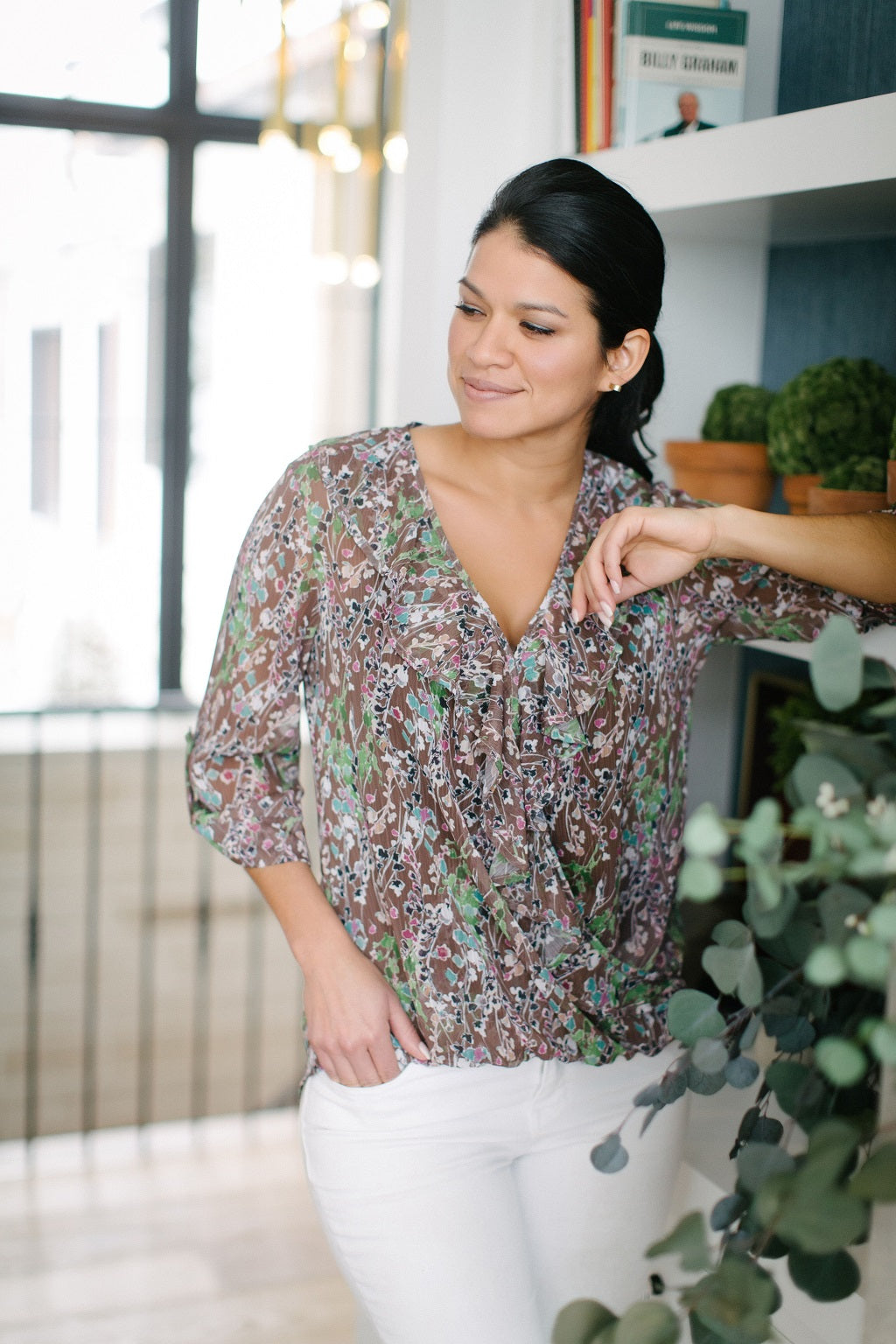 KOKOON Clementine Blouse in Meadowlands Front