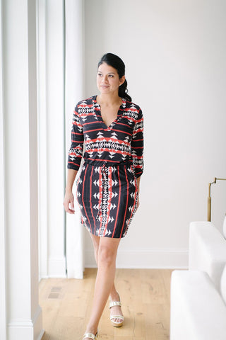 KOKOON Fulton Day Dress in Claypot Walking