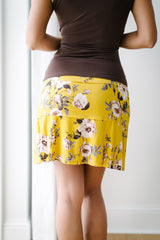 KOKOON Stacked Deck Skirt Curry Floral Back