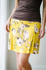 KOKOON Stacked Deck Skirt Curry Floral