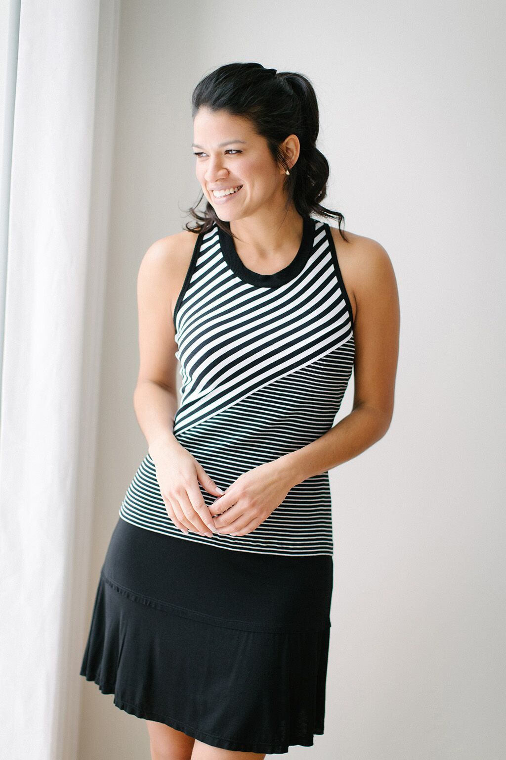 KOKOON Stacked Deck Skirt in Black 3