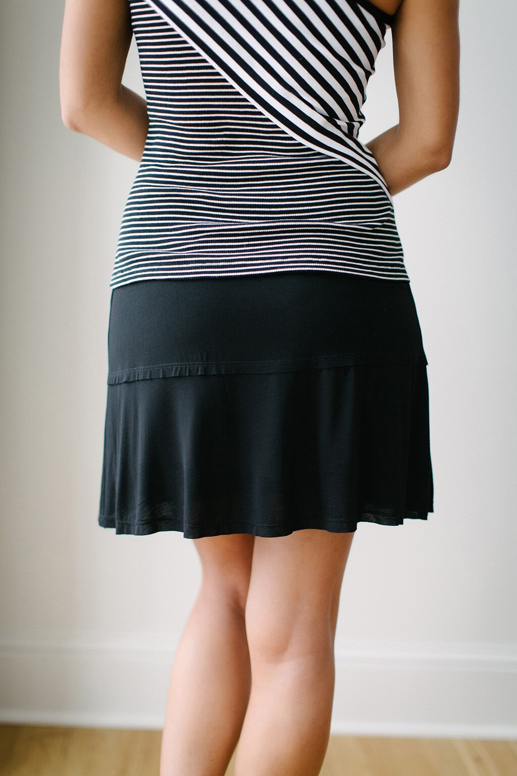 KOKOON Stacked Deck Skirt in Black Back