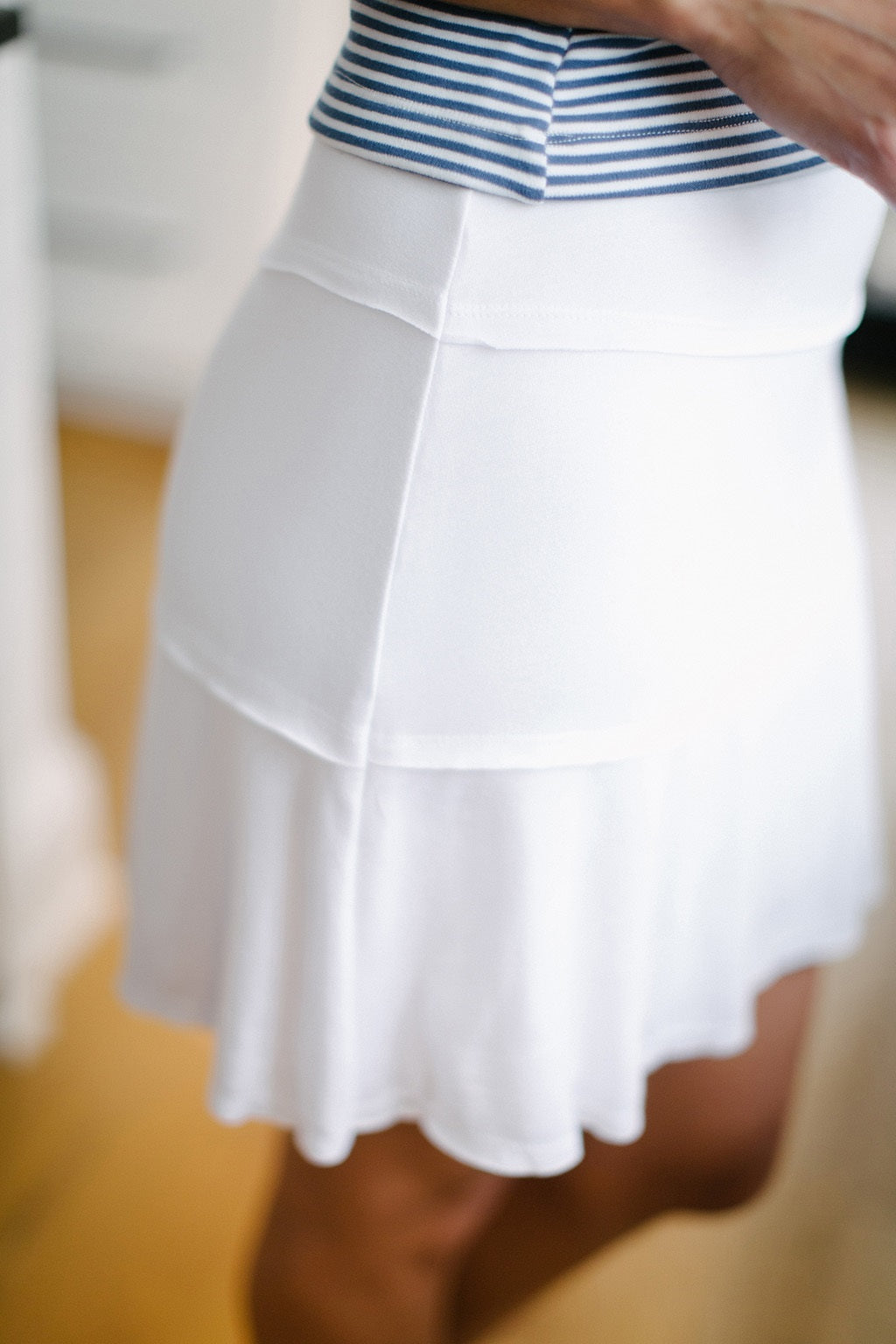 KOKOON Stacked Deck Skirt in White Side