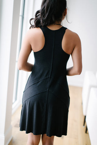 KOKOON Woodtsock Dress in Charcoal Melange Back