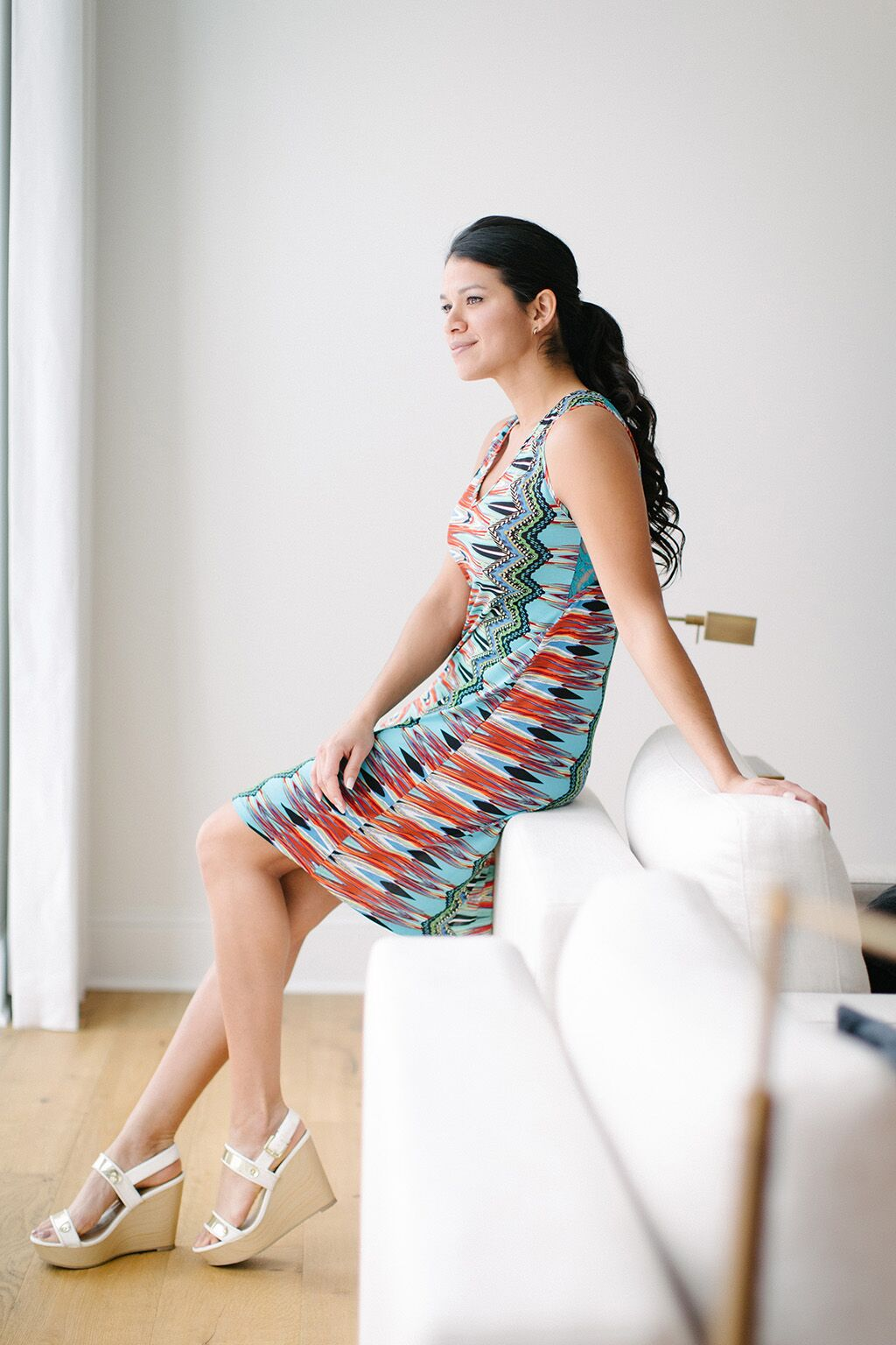 KOKOON Zoe Dress in Orion Print Sitting