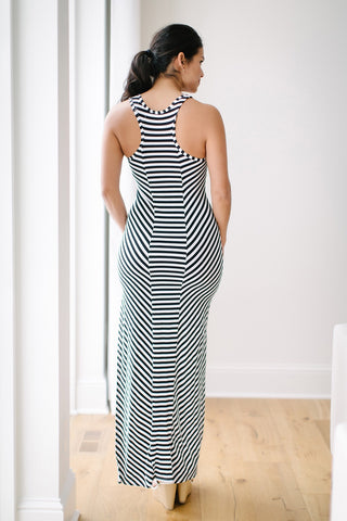 Salty Stripe Maxi Dress