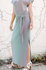 KOKOON Hippity Maxi Dress Model Side Closeup