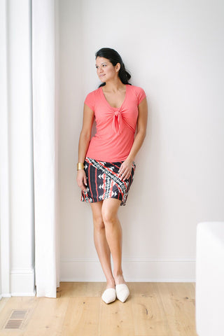 KOKOON Hipster Skirt in Clay Pot front