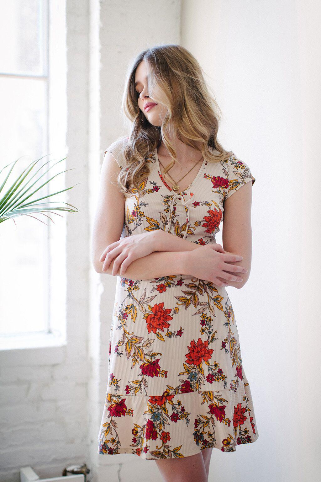 KOKOON Bon Voyage Dress in Ginger Floral 1