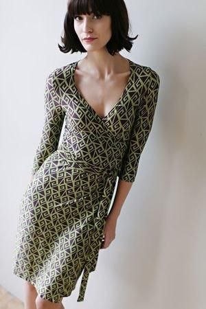 KOKOON Farrah Wrap Dress in Graple Print