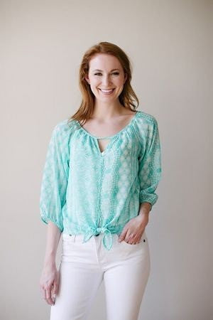 KOKOON Separates Aqua Star / XS Piccadilly Blouse