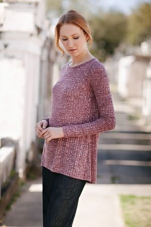 KOKOON Separates Berry Rib / XS Dauntless Sweater