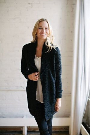 KOKOON Separates Black Boucle / S The Big Easy Sweater Coat