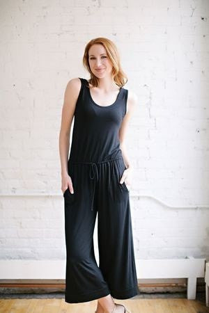 KOKOON Separates Black / XS Cropped Wide Leg Jumpsuit