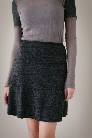 KOKOON Separates Charcoal Brushed / XS Stacked Deck Skirt
