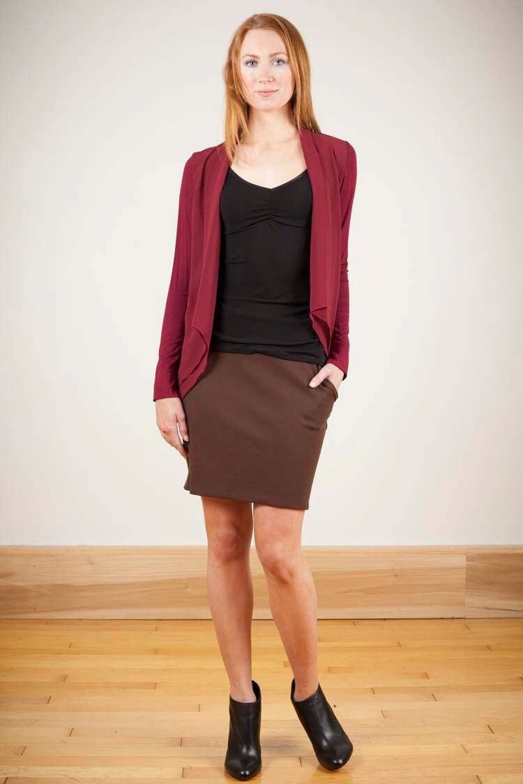 KOKOON Separates Chocolate Thermal / XS In the Fold Skirt: more colors available
