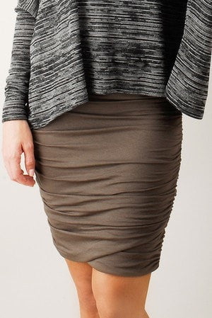 KOKOON Separates Pecan / XS Scrunch Skirt: more colors available