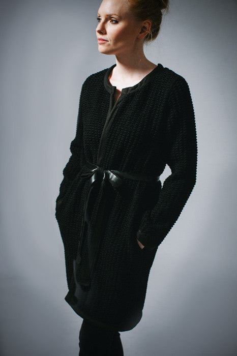 KOKOON Scallop Knit Sweater Coat