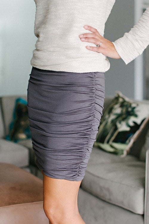 KOKOON Separates Slate / XS Scrunch Skirt: more colors available