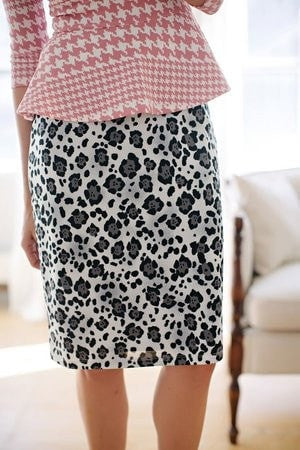 KOKOON Pencil Pusher Skirt Snow Leopard