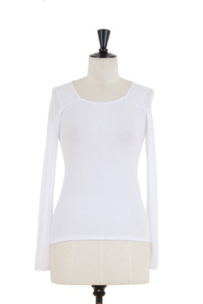 KOKOON  Square Neck Ultra Tee White