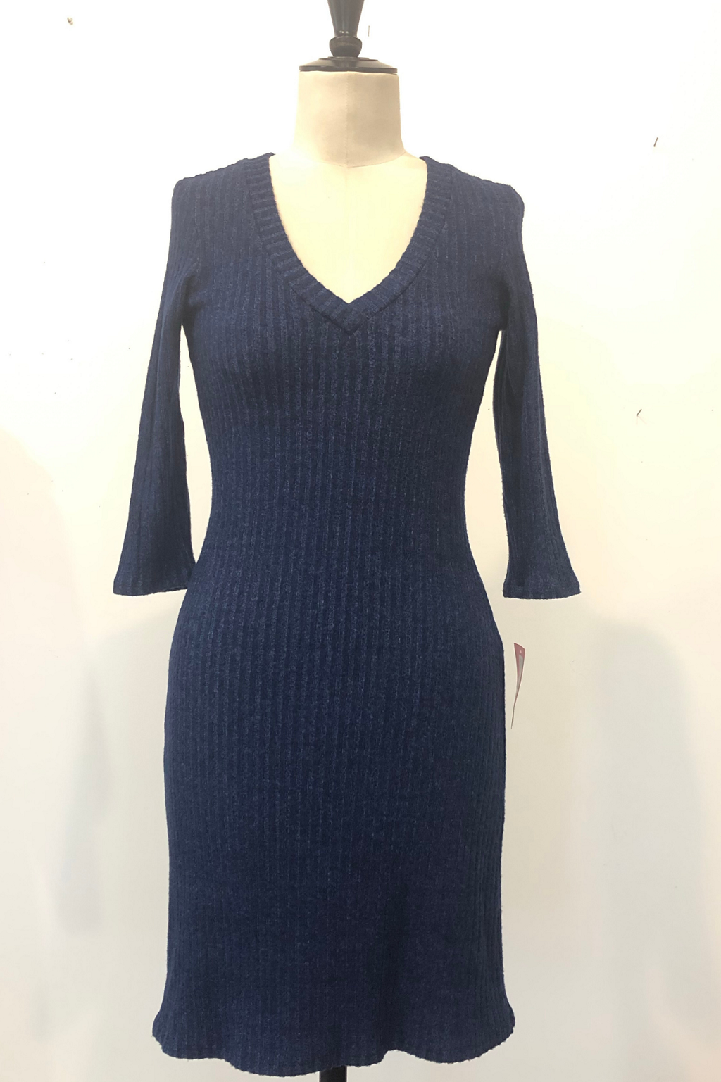 KOKOON Long Tall Sally DRess in Navy Poorboy Sweater Rib