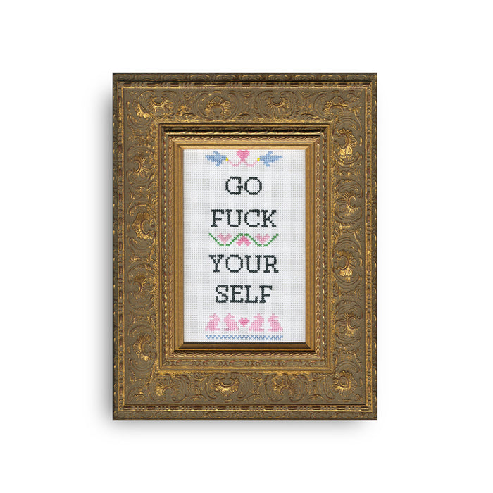 Go Fck Yourself Cross Stitch Kit - Fuck Shit Shop