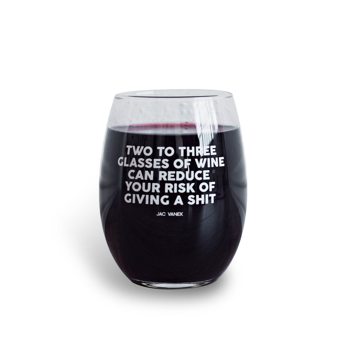 Reduce Your Risk Wine Glass - Fuck Shit Shop