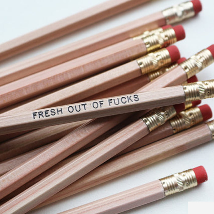 Fresh Out of Fcks Pencil Set - Fuck Shit Shop