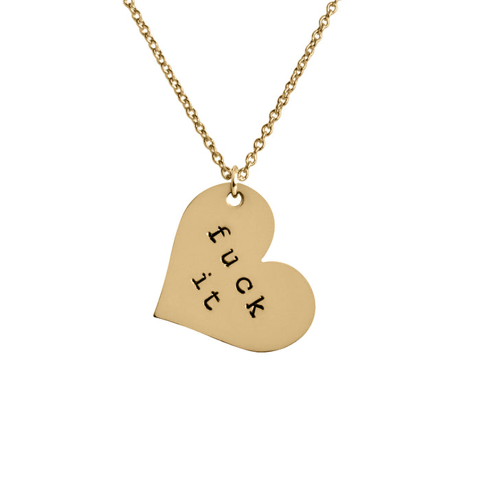 Fuck It Heart Necklace - Fuck Shit Shop