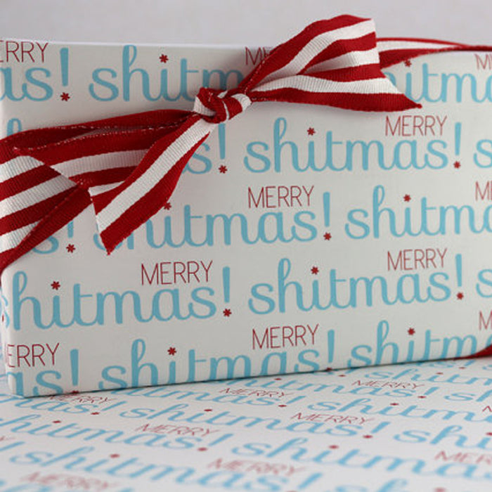 Merry Shitmas! Wrapping Paper - Fuck Shit Shop